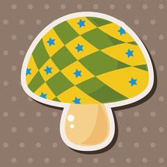 mushroom cartoon theme elements vector,eps