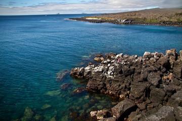 Beautiful ocean landscape in San Cristobal Island, Galapagos
