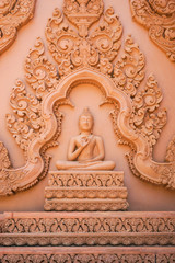 Buddha Image with Thai Traditional Carving