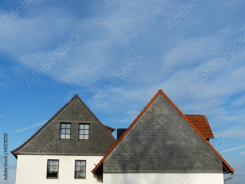 Fassaden Mit Verkleidungen Aus Schiefer In Grau Anthrazit