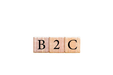 Acronym B2C- Business to Consumer isolated with copy space