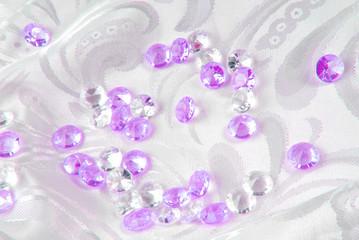diamonds on white fabric