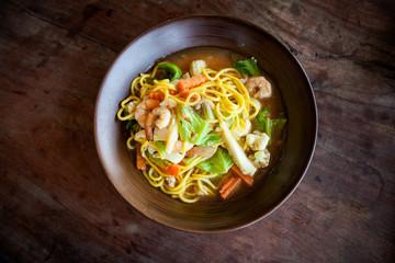 Thai skewer seafood barbeque