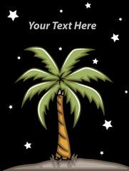 Coconut Tree at Night
