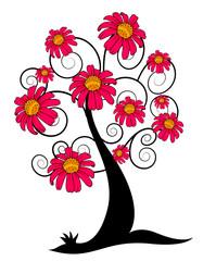 Decorative Flowers Tree Design