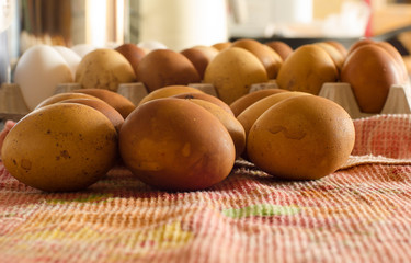 """""""Easter eggs"""" dyed in onion skins"""