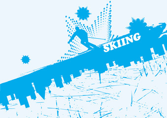 Blue ski background