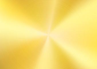 Gold Brushed metal background, Vector