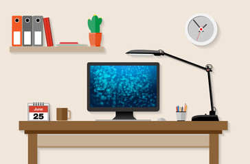 Home or office working place