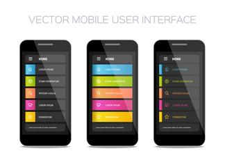 vector mobile user interface design
