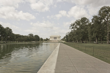 View of the Lincoln Memorial & Reflecting Pool, Washington DC