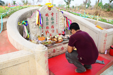 Ceremony of Ancestor Worshipping and Sacrificial offering