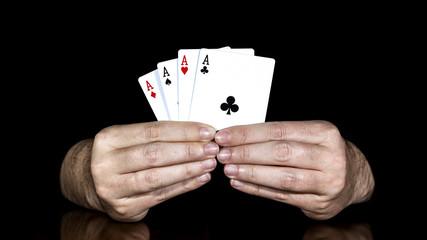 Poker of As