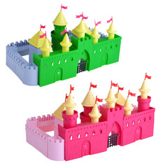knightly castles  on white background