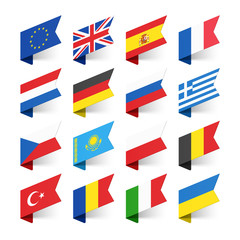 Flags of the World, Europe, set 1