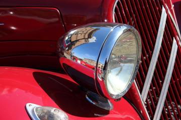 Papiers peints Rouge, noir, blanc vintage car