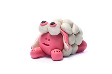 Plasticine sheep.