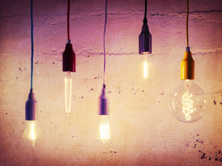 Illuminated light bulbs