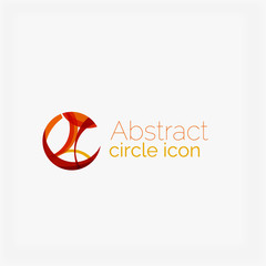 Clean elegant circle shaped abstract geometric logo. Universal