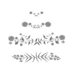 Gray floral design