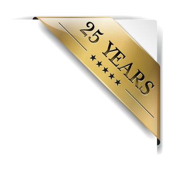 ribbon gold 25 Years