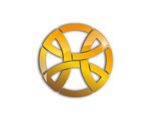 golden badge letter X