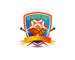 soccer and basketball emblem logo