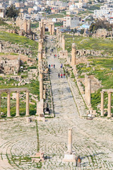 Ruins of the ancient Jerash, in modern Jordan