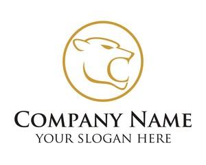 gold phanter logo image vector
