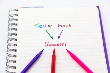 Team Work Success word