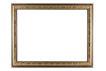 Bronze and Gold Frame isolated on white background.