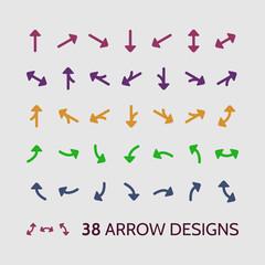 Arrow Sign Icon Set Vector Design