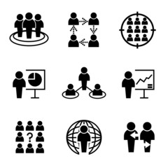 business and organization management icons