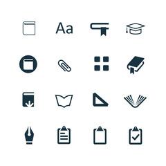 books icons set
