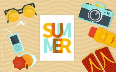 Summer banner template