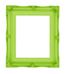 Empty contemporary vintage frame with vibrant color isolated on