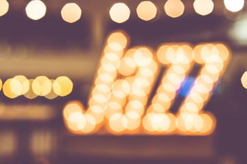 abstract blur bokeh in jazz word,music background,vintage filter Fotomurales