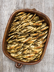 rustic roasted hasselback potato gratin