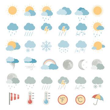 Flat Icons - Weather