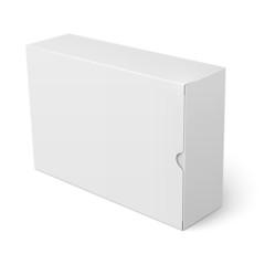 White cardboard box template.