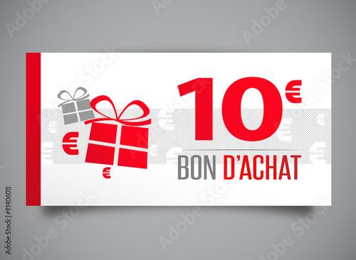 Bon d 39 achat de 10 euros fichier vectoriel libre de for Bon d achat id garage