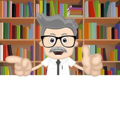 Scientist Professor Book Books Learning School Knowledge