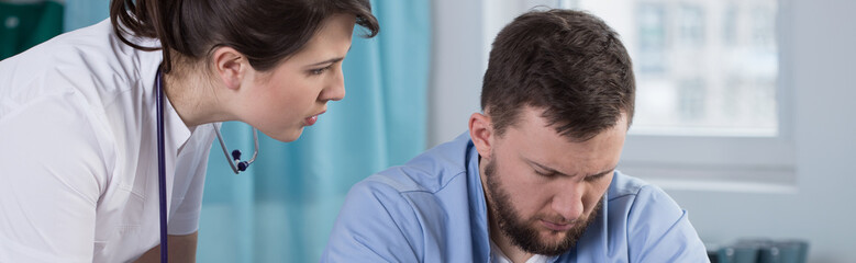 Tired and worried physicians