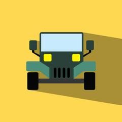 Pickup flat icon  vector illustration eps10