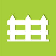 Fence flat icon  vector illustration eps10