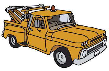 Yellow breakdown service car, vector illustration