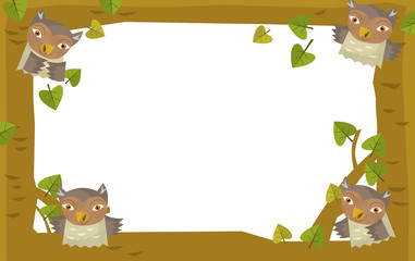 Cartoon nature frame - horizontal