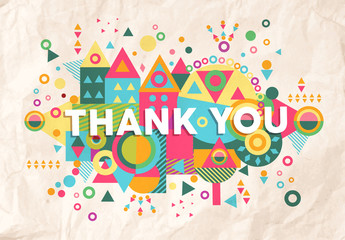 Thank you quote poster design background