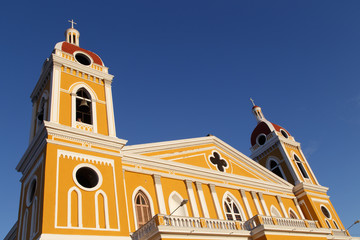 Cathedral view, Granada, Nicaragua, Central America.
