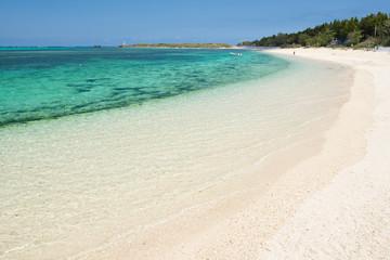 沖縄のビーチ・備瀬の浜